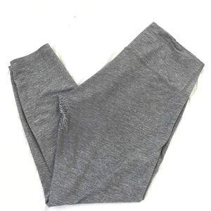 Gray Marled Legging Athletic Yoga Pants